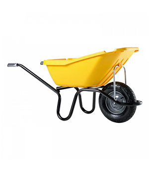 Brouette carreleur pick up plastique jaune 110 l cambrai - Brouette de jardin plastique ...