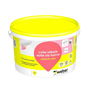 Colle a fa ence fix plus blanc en seau de 2kgs cambrai for Colle carrelage weber
