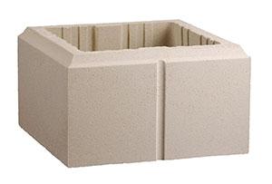 pilier lisse 40x40 beige cambrai. Black Bedroom Furniture Sets. Home Design Ideas