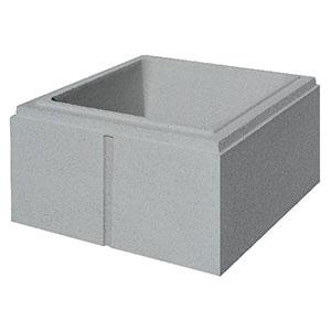 pilier lisse 40x40 gris cambrai. Black Bedroom Furniture Sets. Home Design Ideas